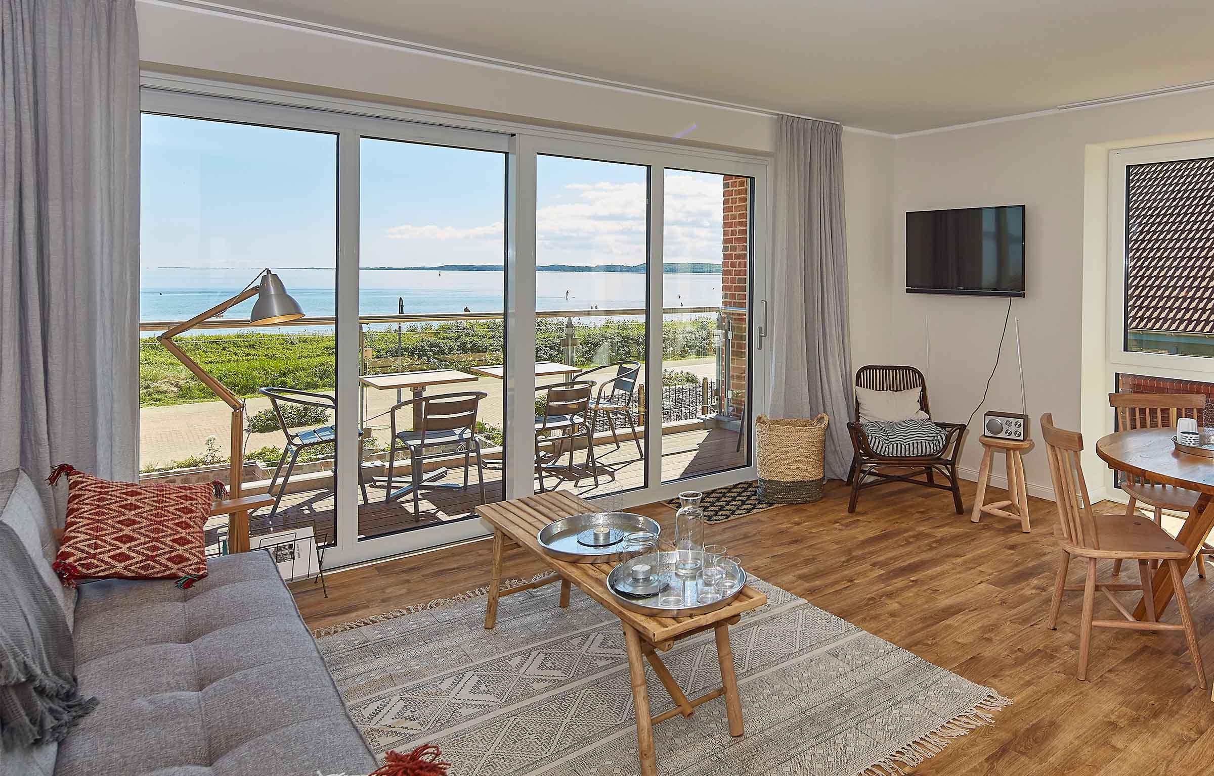 Ostsee Strandhaus Holnis Penthauser Suiten Doppelzimmer Direkt